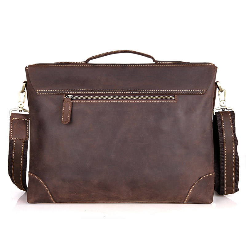Mens casual briefcase business Shoulder bags Men messenger bags Computer Laptop Handbag Bag Men crazy horse Leather 7228