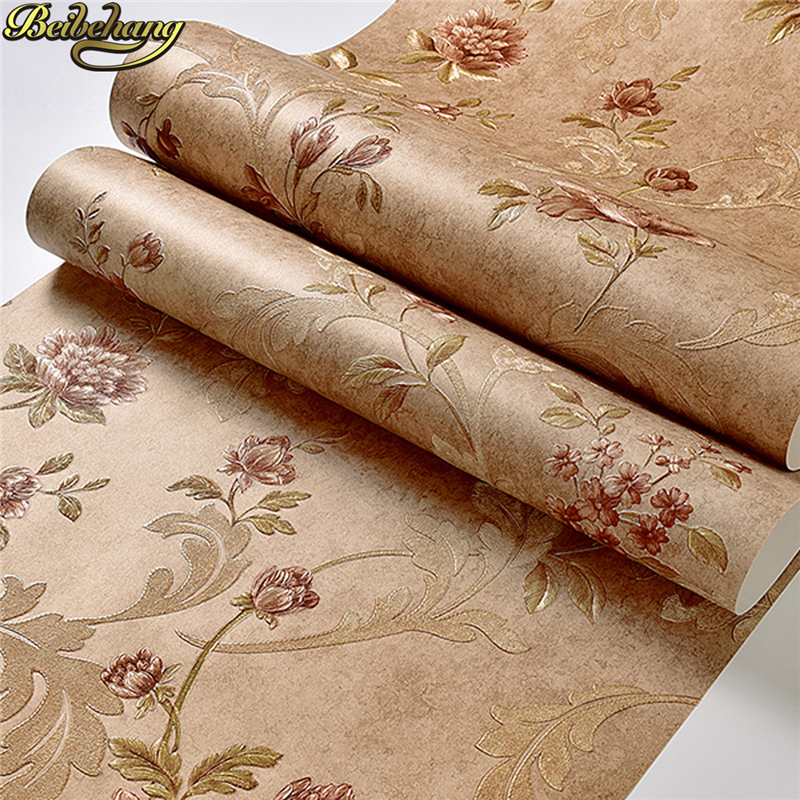 beibehang Classic Wall Paper Home Decor TV Background Wallpaper roll Wallcovering 3D Rustic flowers Wallpaper for Living Room beibehang room 3d wall paper roll stone brick design background wall vinyl wallpaper roll modern for living room wallcovering