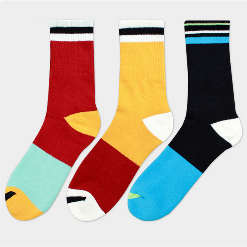 New men socks high quality autumn-winter mens knee high business cotton socks male and mens joint long happy socks