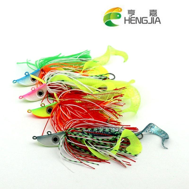HENGJIA 2pcs 20g de mare cap de pescuit cap de pescuit atrage bas de - Pescuit