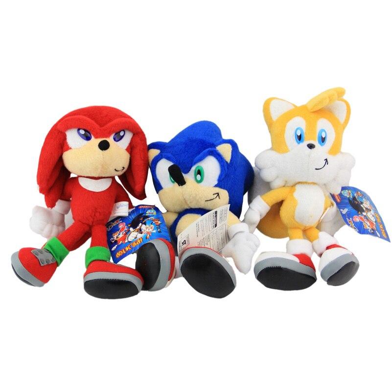 3pcs/set New Arrival Sonic Boom Plush 22CM Super Sonic Plush…