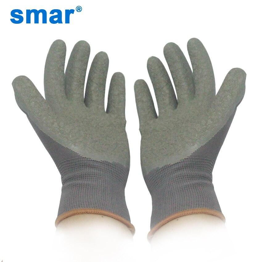 Smar Men Women Mechanic Gloves Gray Polyester Latex Microfine Foam Coating Work Safety Gloves Working Gloves 1 PairSmar Men Women Mechanic Gloves Gray Polyester Latex Microfine Foam Coating Work Safety Gloves Working Gloves 1 Pair