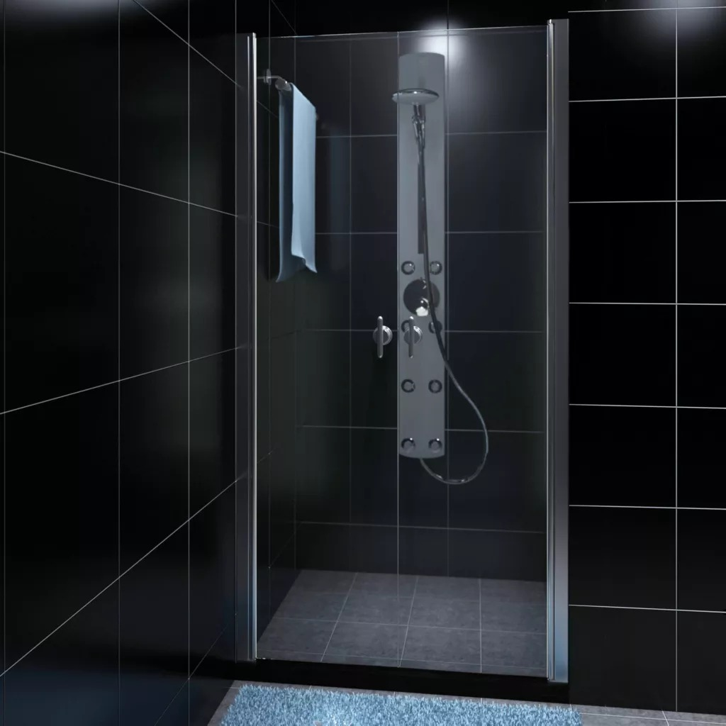 VidaXL Stainless Steel Shower Cabin With Safety Glass Door 80cm Luxury Aluminum Side Frames Bathroom Steam Shower Enclosure