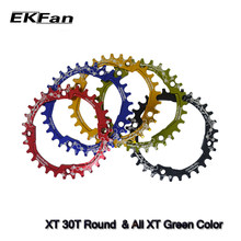 EKFan 104BCD XT Oval Round 30T 32T 34T 36T Cycling Chainring Narrow Wide MTB Bike Chainwheel Circle Crankset Plate(China)