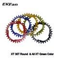 Ekfan 104bcd xt oval redondo 30 t 32 t 34 t 36 t ciclismo estreita ampla mtb bicicleta roda dentada círculo placa do cárter