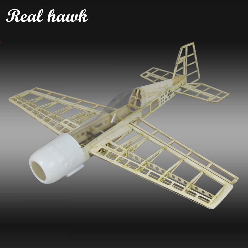 RC Plane Laser Cut Balsa Wood Airplane Kit New YAK54 Frame without Cover Model Building Kit image