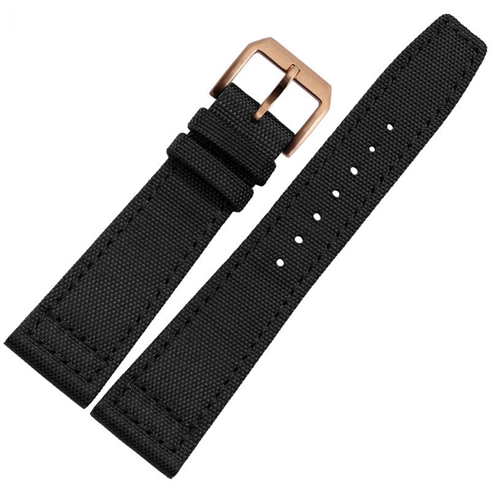 NL01 20 mm/21 mm/22 mm Black Waterproof Canvas Watch band Of Stainless Steel Buckle Nylon Strap Free Shipping все цены