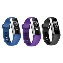 Bluetooth 4.0 Смарт наручные часы Приборы для измерения артериального давления монитор сердечного ритма шагомер Фитнес трекер Браслет для смартфонов
