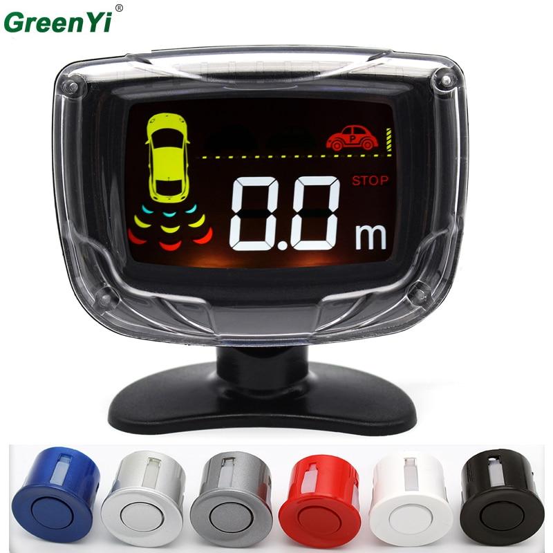 Auto Parking Sensor 4 Sensors 22mm Buzzer Alert LCD Backlight Display Car Reverse Backup Radar Detector Monitor System