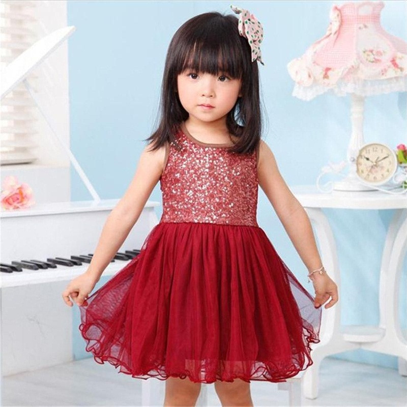 Summer Gold Sequined Baby Girls Princess For Girls Kids Dresses Pageant Party Tutu Dress Kid Dresses For Kids Birthday Outfits cute girls fashion dress summer kid girls sleeveless belt flowers tutu princess party dresses ball gown kids dresses