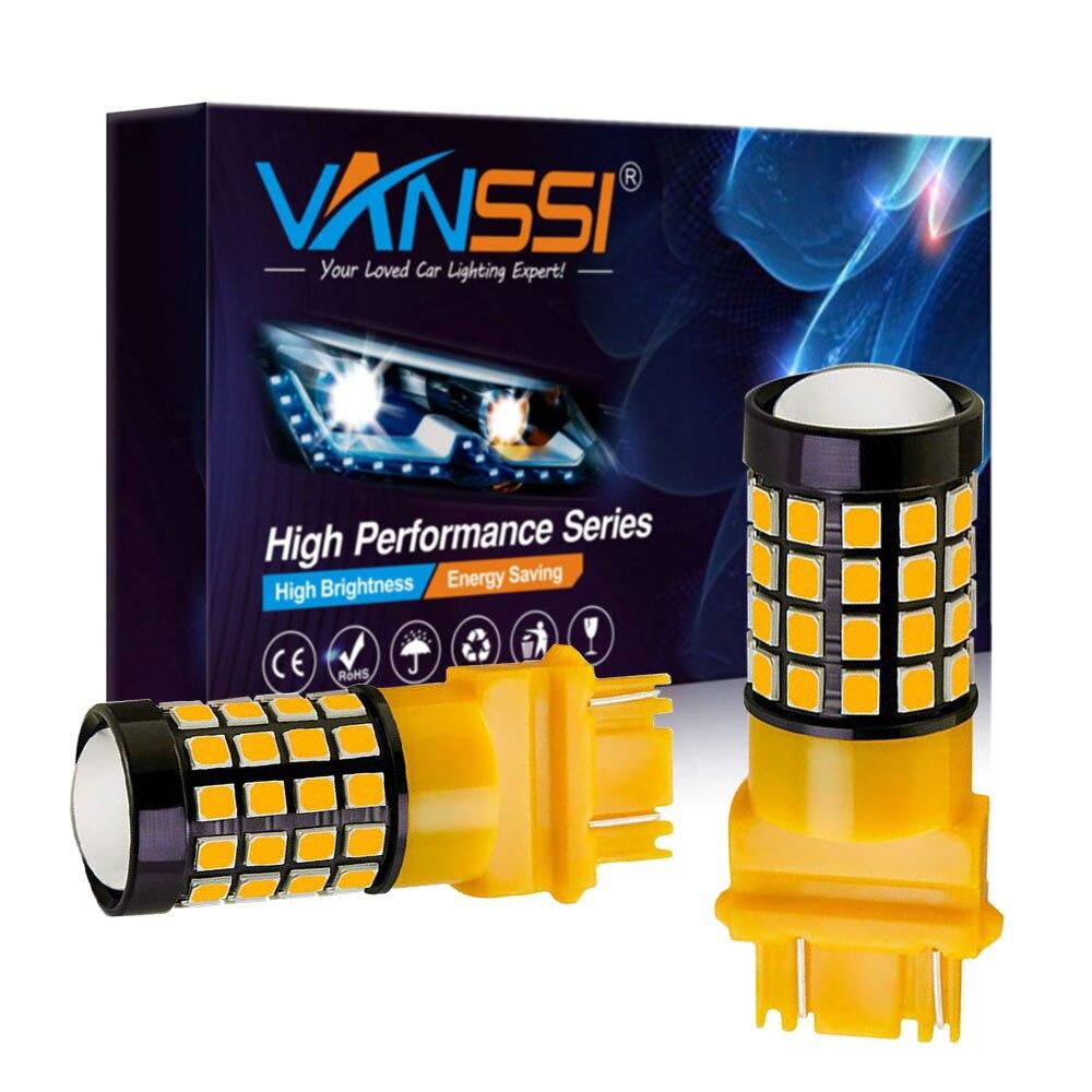 2x extremadamente brillante 1600Lm 3157, 4157, 3357, 3457, 3156, 3056, 3057 3157NA bombillas LED de señal de vuelta de luz trasera de parada y freno ámbar blanco