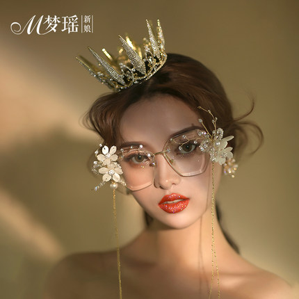 alloy metal fairy/dream/studio/rhinestone flower beading tassels photo shooting glasses/cosplay eyewear
