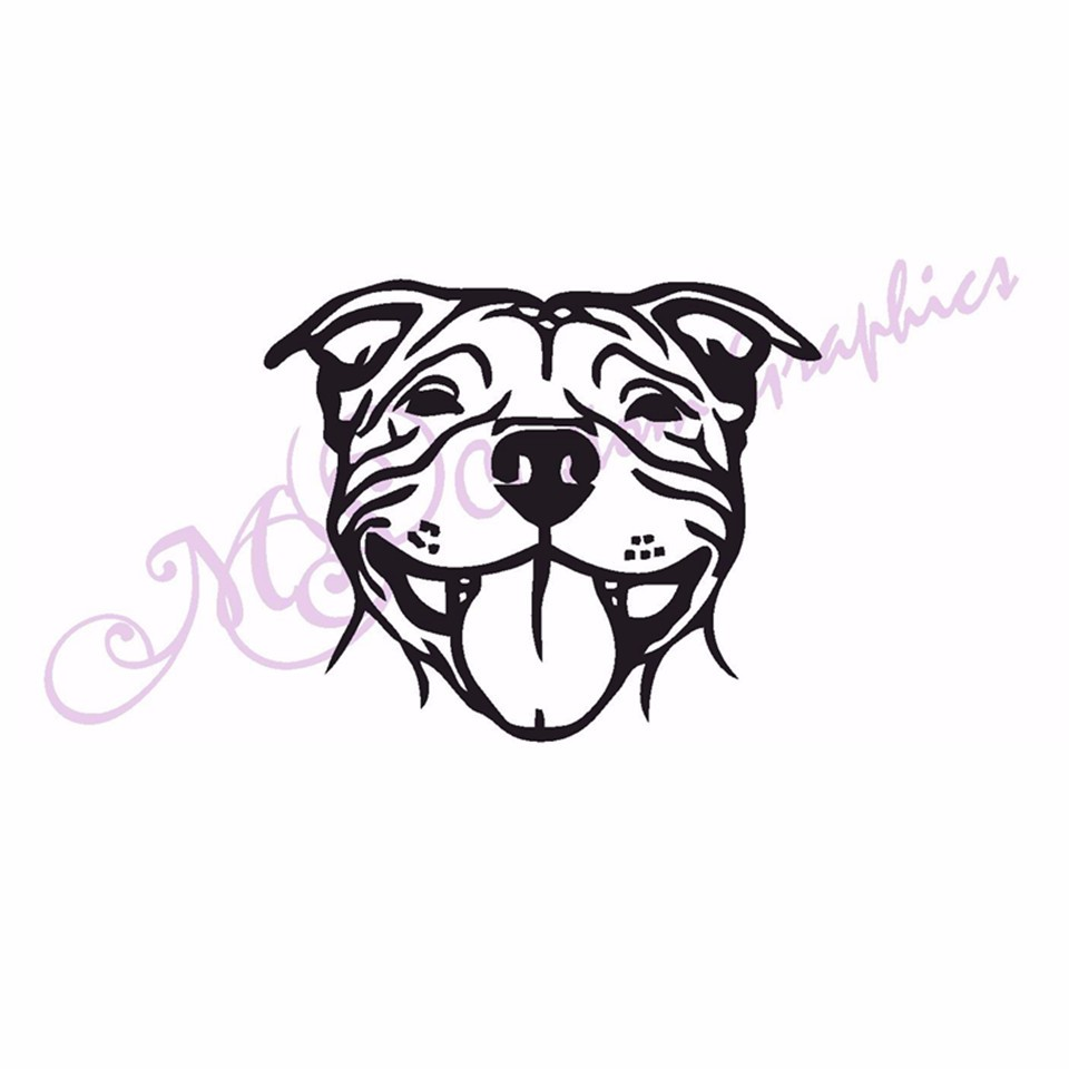 2pcs car auto sticker and decals styling bumper decal funny jdm vinyl wall stickers vag creative custom made staffie staffy dog