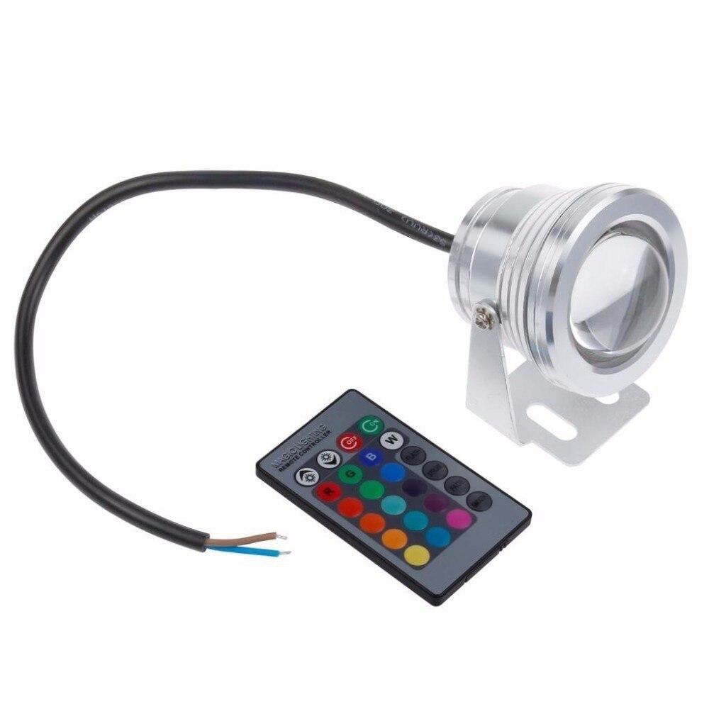 DC12V Открытый Подводные Освещение 10 Вт RGB подводный светодиодный прожектор Цвет Изменение лампа IP68 Водонепроницаемый для пруд
