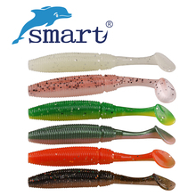 SMART Mushy Bait 12Pcs 80mm 4.6g T-Tail Fishing Lure Silicone Baits Iscas Synthetic Para Pesca Fishing Wobblers Swimbait