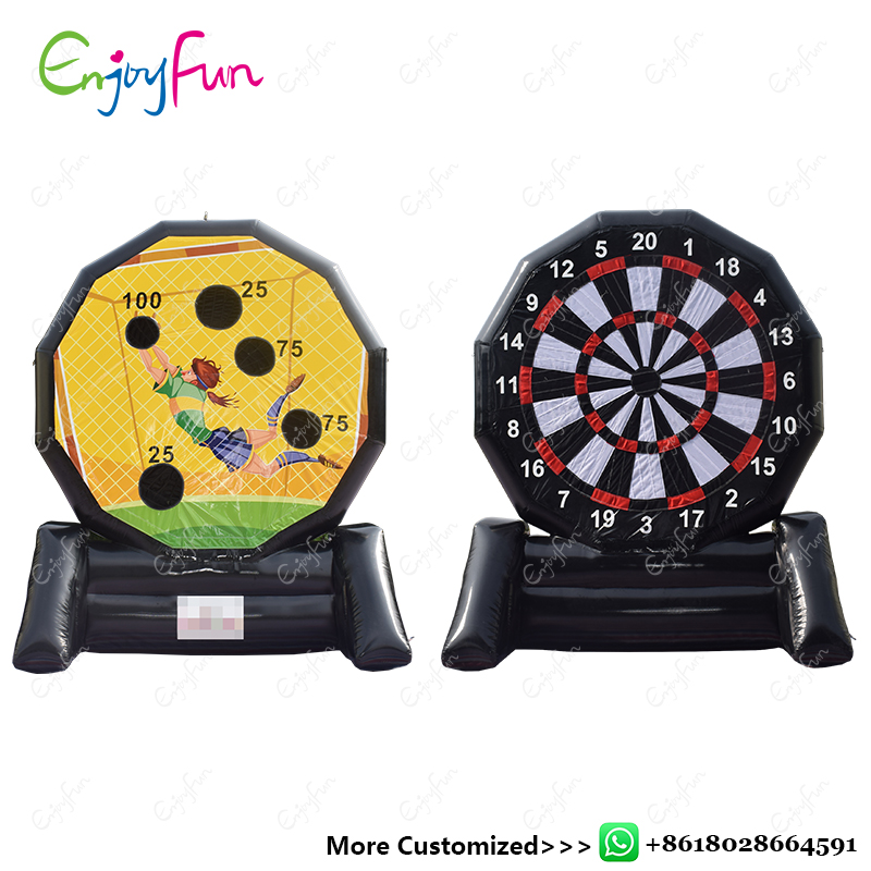 ENJOYFUN Outdoor Giant inflatable dart board Game Inflatable Foot Darts Inflatable Soccer Dart Board Juegos Inflable Game#IS1001 customized 3x1x2 5 meters inflatable dart game high quality inflatable dart board for adult and kids toys