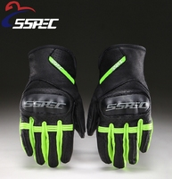 SSPEC Motorcycle Gloves Real Leather Full Finger Women Men Luvas Guantes Motorbike Protective Gears Racing Glove