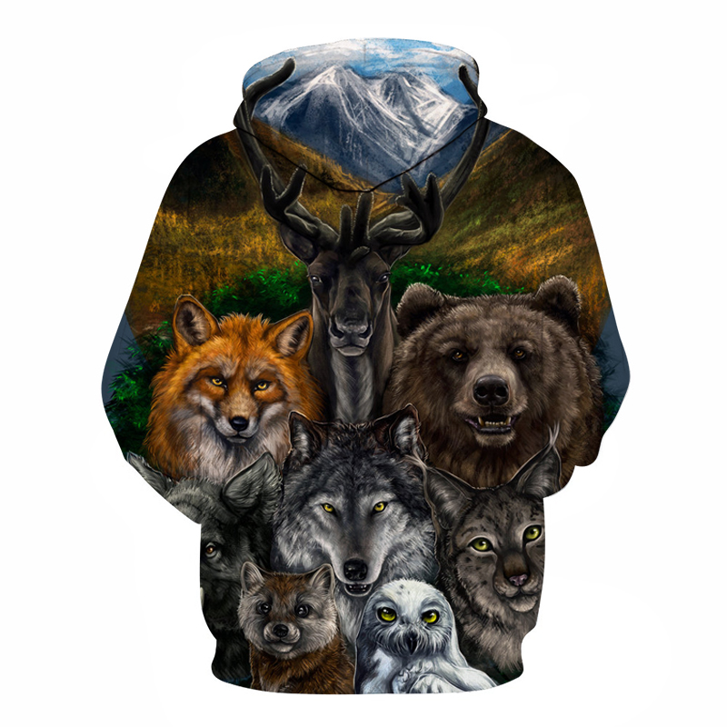 Wild animals 3D Hoodies 1