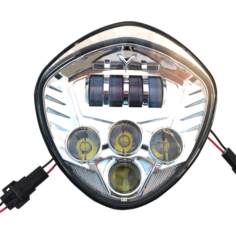 1 X Chrome Color 60w Led Headlamp 12v for Victory Motorcycles Hi/Low Beam Led Victory LED Headlight