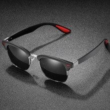 Brand Design Men Polarized Sunglasses Classic Half Frame Driving Sun Glasses For