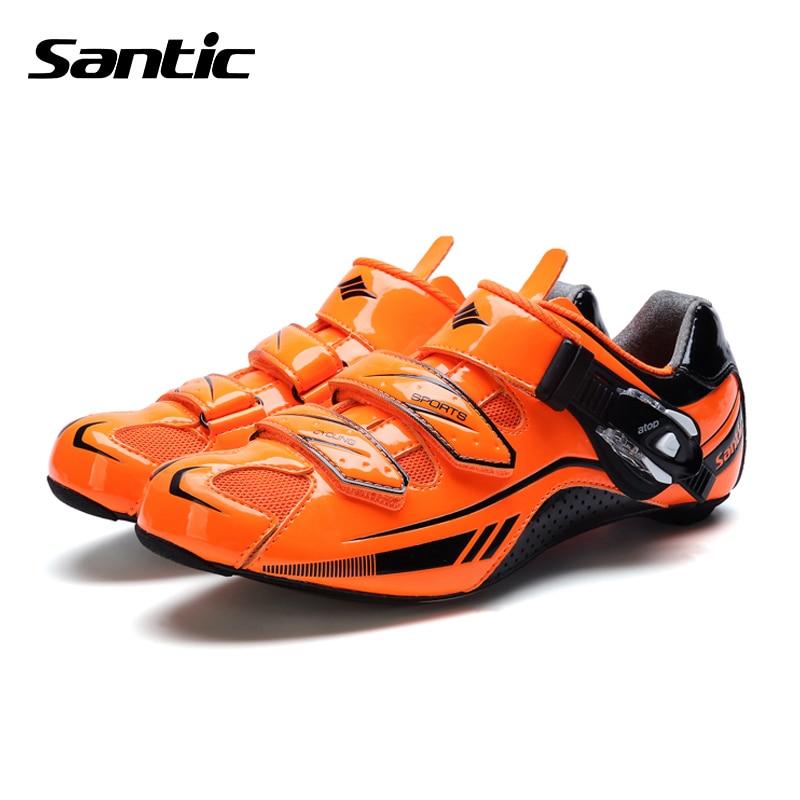 Santic Men Road Cycling Shoes Tour De France Carbon Fiber Road Bike Shoes Self-Locking Athletics Bicycle Shoes Scarpe Ciclismo kraftwerk kraftwerk tour de france 2 lp