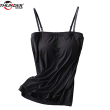 Women Vest Tank Top Modal Built In Bra A