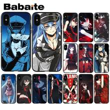 Babaite Akame Ga Kill Anime Colorful Cute Phone Accessories Case for iPhone 8 7 6 6S Plus 5 5S SE XR X XS MAX Coque Shell(China)