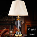 2016 Hot New LED european style DC 220v knob switch Bedside Modern crystal table Lamp CCC certification