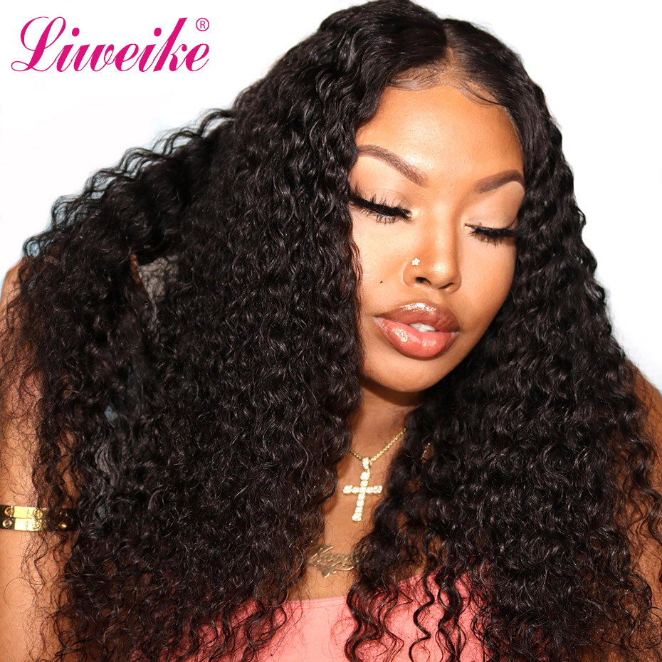Deep Curly Wig Lace Front Human Hair Wigs For Women Pre Plucked Hairline With Baby Hair