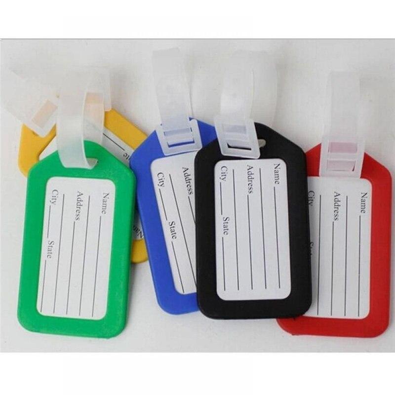 1шт случайных пластиковая камера держатель бирки этикетки ремешок имя адрес номер ID чемодан сумка багаж путешествия камера этикетки