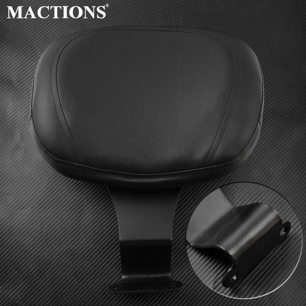 Motorcycle Front Sissy Bar Driver Backrest Rider Seat  Backrest Cushion  Pad Black Leather For Honda Shadow VT1300 chainsaw