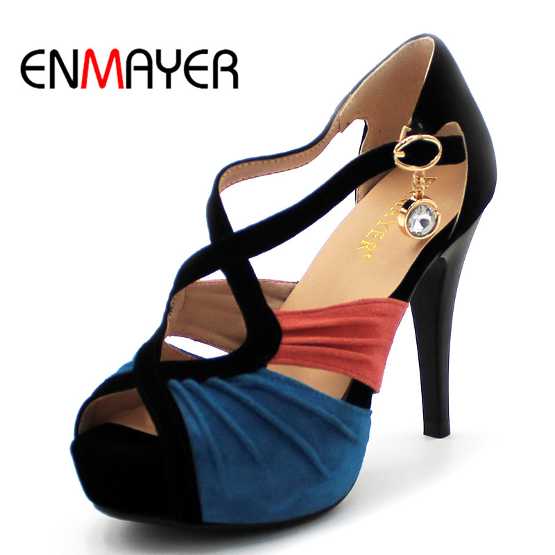 ENMAYER Free shipping! 2014 new arrival summer fashion leisure sweet high heel sandals women