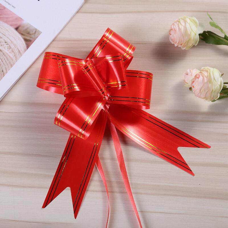 30pcs/lot Plastic Bow Hand Drawn Flower DIY Handmade Wedding Car Decoration Birthday Party Christmas