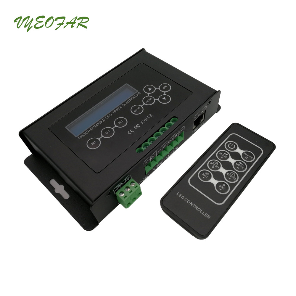 цена New BC-300 Time programmable LED Controller Led RGB RGBW Strip Light Controller programmable Timer DC 12-36V Light Controller