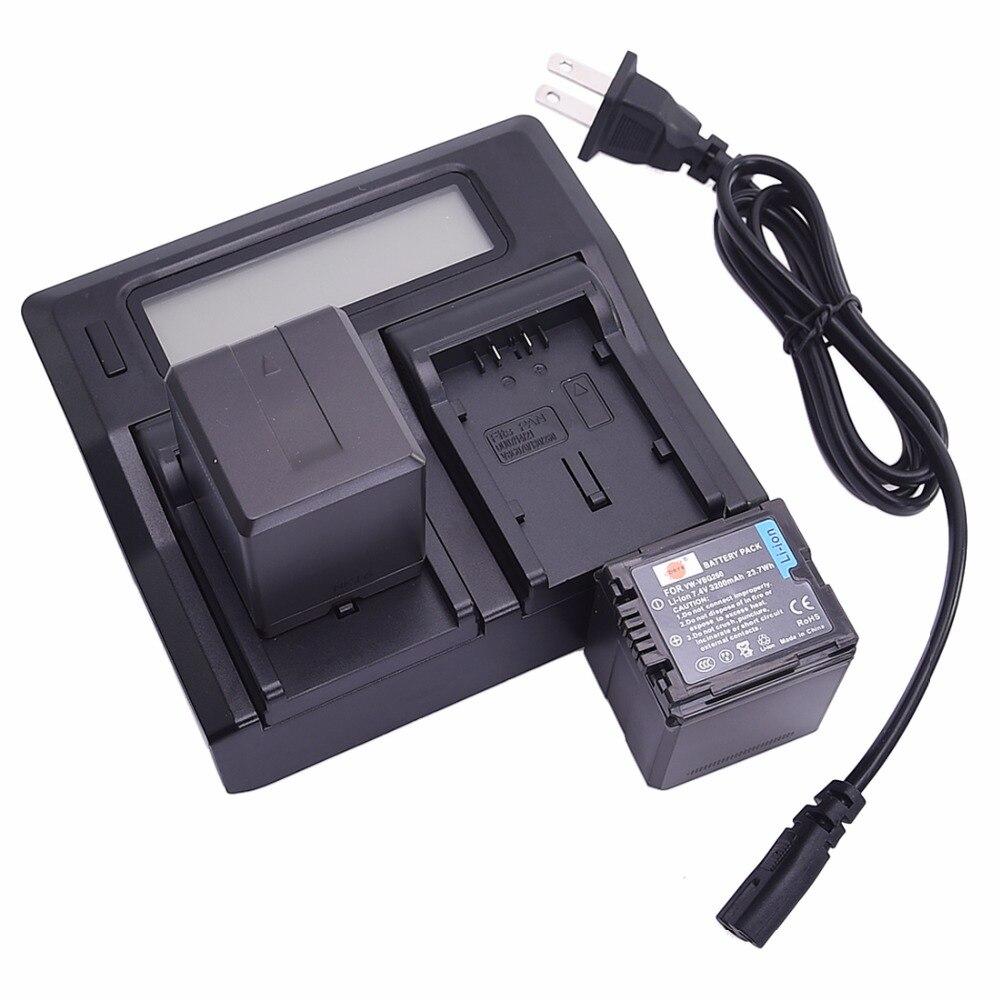 DSTE 2x Li-ion VW-VBG260 Battery + 1.5A Dual USB Battery Charger for Panasonic NV-GS320 NV-GS330 NV-GS500 SDR-H18 Camera