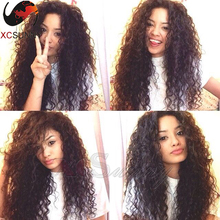 130% Density 7A Grade Brazilian Loose Curly Virgin Human Hair Glueless Lace Front Wigs Human Hair Lace Front Wigs With Baby Hair
