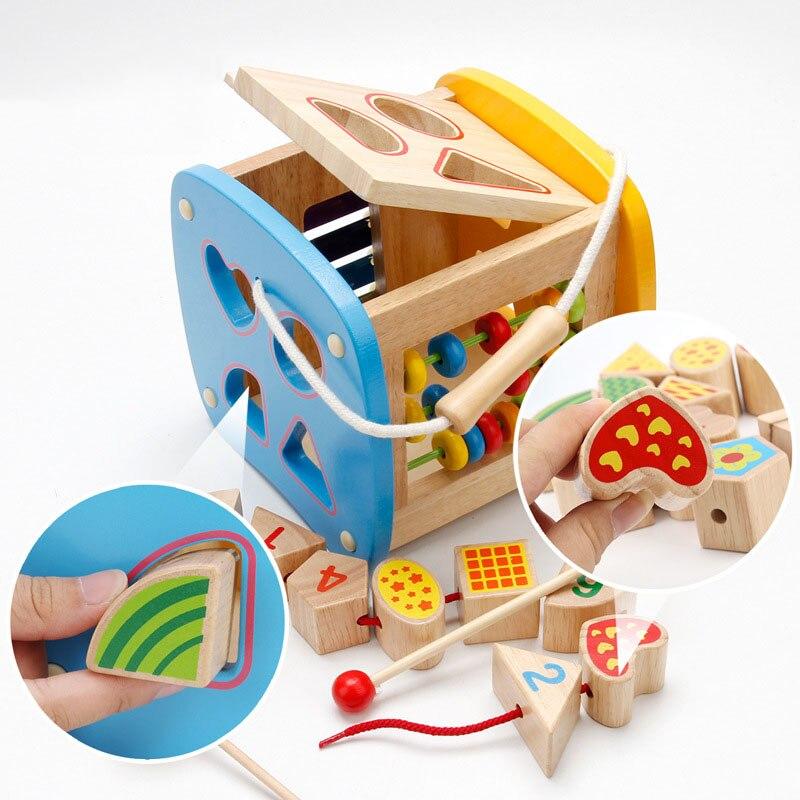 Bébé jouet en bois pour enfants bois classique Multi forme trieur bloc pour enfants cadeau en bois multi-fonction boîte cadeau de noël
