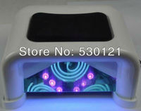 Free Shipping 2pcs 60 Watt LED Nail Light Curing for all UV and LED Gel with Timer, Sensor, Voltage Adapter