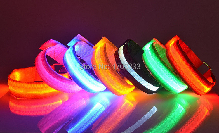 Wholesale 200pcs/lot Safety High Quality Flashing Outdoor Sports Party/Festival Lighted LED Armbands With Freeshipping #DHX43