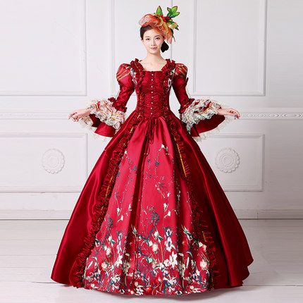 Red Bubble Venice Carnival Queen Ball Gown Princess Medieval Dress Renaissance Gown Victoria/Antoinette/ball Gown/Belle Ball