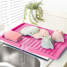 Plastic Dish Drainer Tray Kitchen Large Sink Drying Rack Worktop Storage Rack Organizer Kitchenware Cutlery Drip Plate