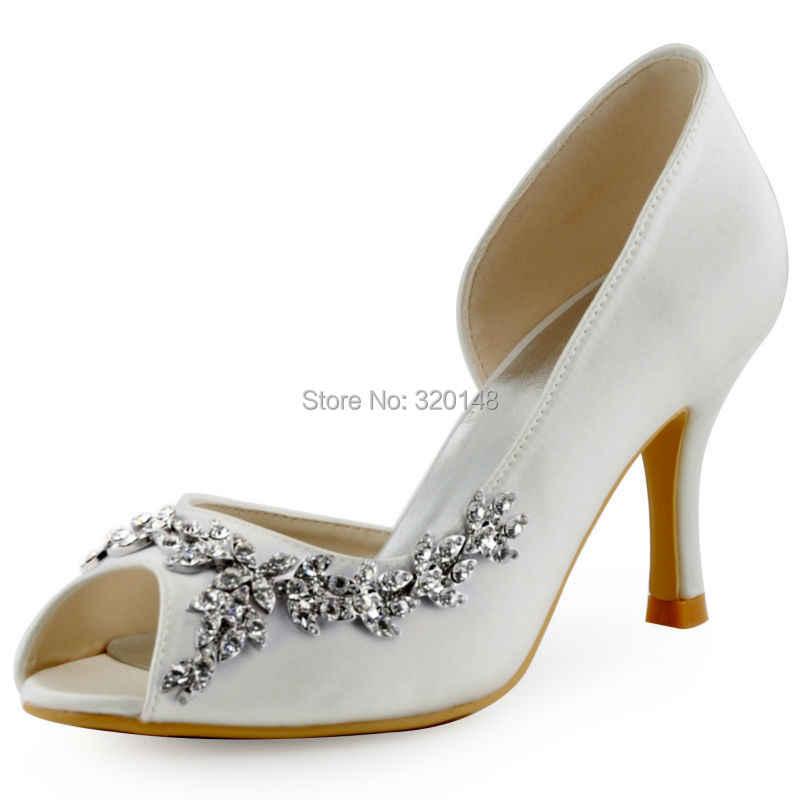Ivory White Shoes Woman Wedding Bridal