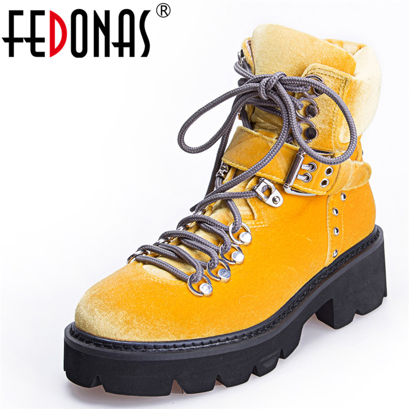 FEDONAS 1Fashion Women Ankle Boots Autumn Winter Warm Luxury Velvet High Heels Shoes Woman Round Toe Cross-tied Motorcycle Boots fedonas 1fashion women ankle boots autumn winter warm high heels shoes woman round toe cross tied genuine leather martin boots