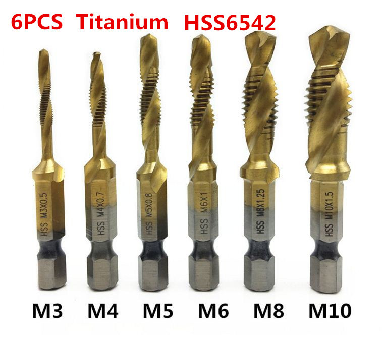 3 PCS COUNTERSINK DRILL BIT SET DEBURRING METAL WOOD PLASTIC HEX SHANK SET TOOL