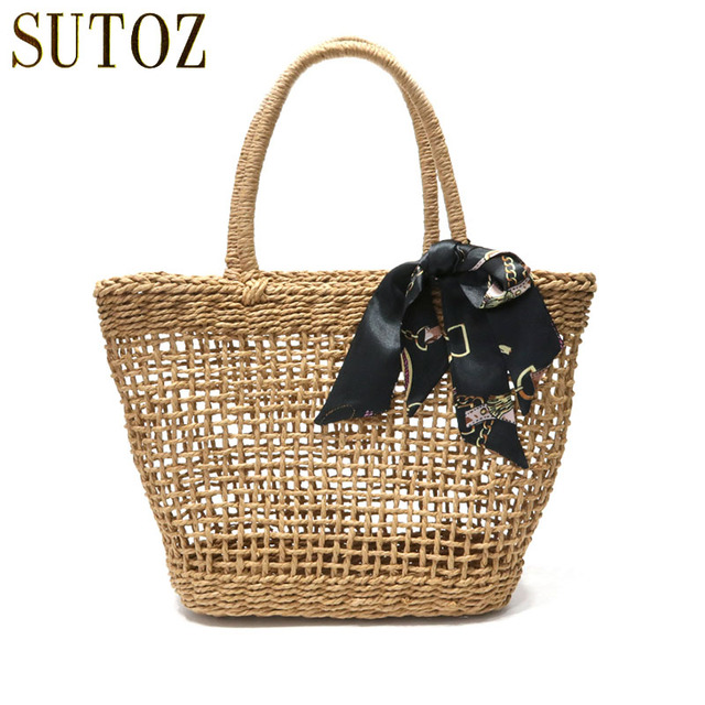 Bohemian Straw Bags Woven Women S Handbags Designer Beach Bag Summer Travel Totes Las Handbag Knitting Ping