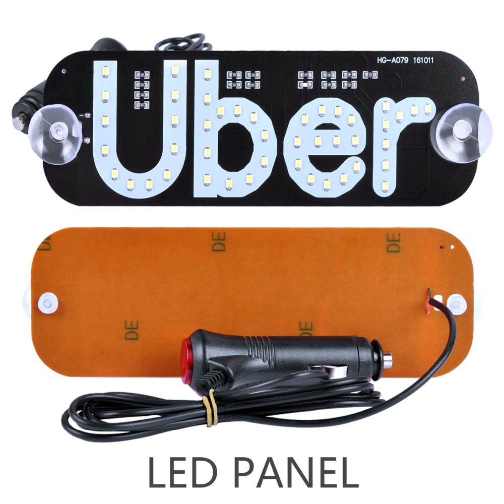 AutoEC 1x Taxi Top Light New LED Roof Uber panel light 12V Car Super Bright LED Light with Cigarette lighter LQ671 in Car Light Assembly from Automobiles Motorcycles