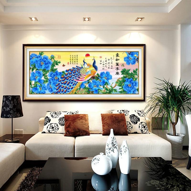 Bricolage 5D vente diamant broderie, diamant mosaïque, forme spéciale, paon, pivoine bleue, diamant peinture, point de croix, décoration