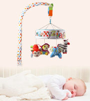 Newborn Babyplay Baby Crib Toys Educational Bed Hanging Bell Crib Letter Rattle Toys With Music Box Plush Animal For Children