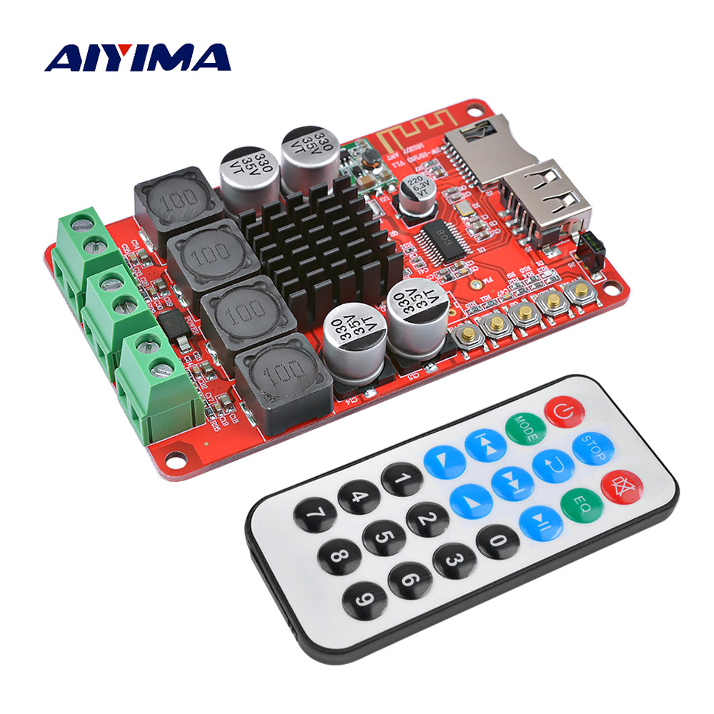 AIYIMA TPA3116 Bluetooth Amplifier Audio Board Stereo Digital Amplificador Support U Disk TF Decoding 2X50W Home Theater