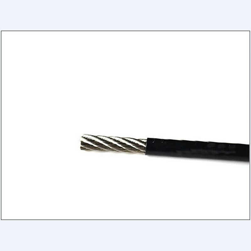 100M 2.0MM Diameter (1.5MM Wire Rope And 0.25MM Coating) Black PVC ...